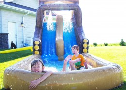 Water slide at the farm - Jodi Morel
